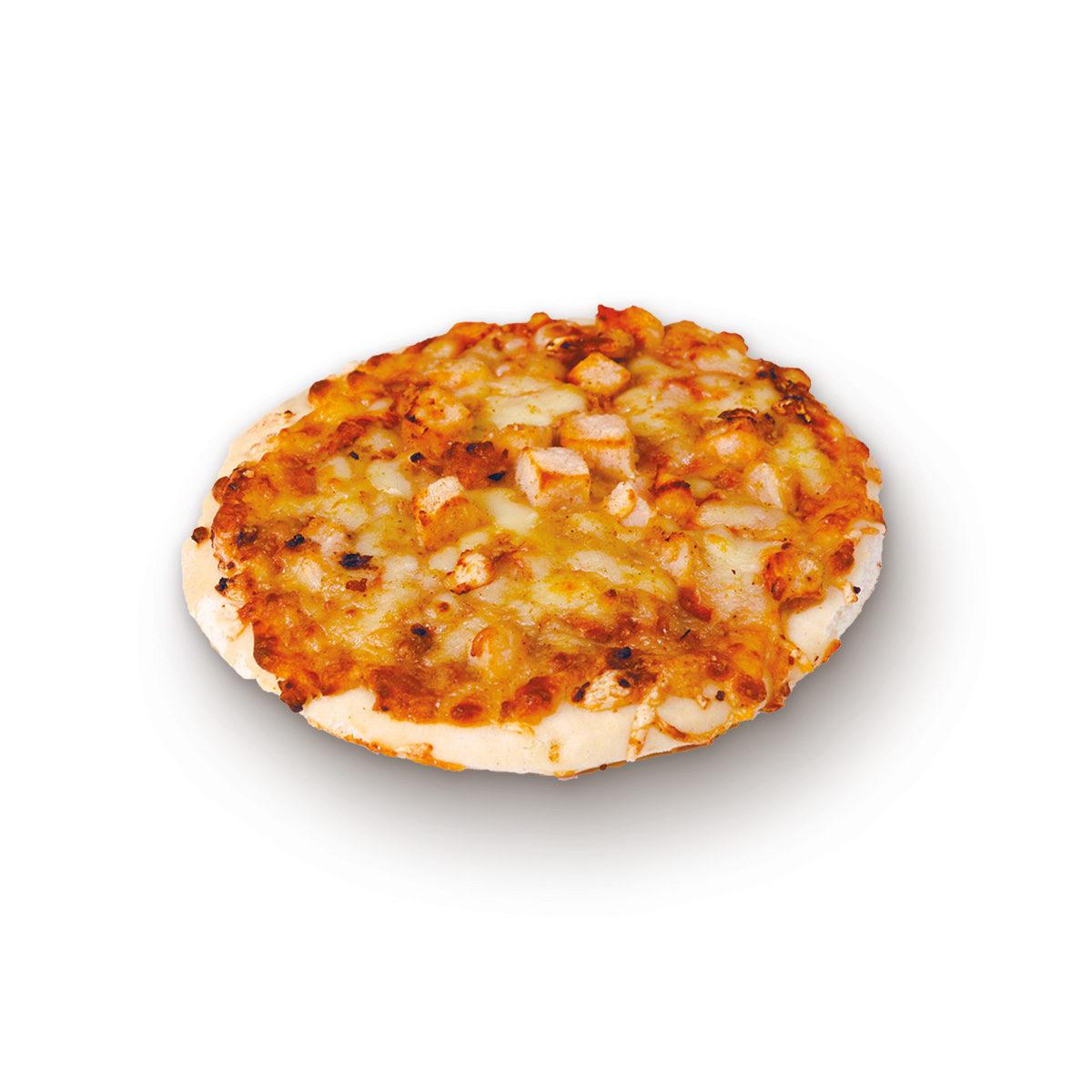 Pizza poulet épicé et fromages