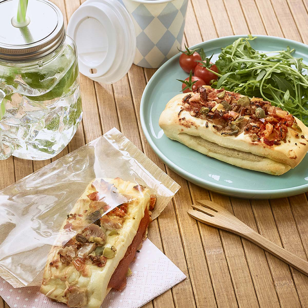 Mediterranean vegetable and chicken mini-Crok'Moelleux