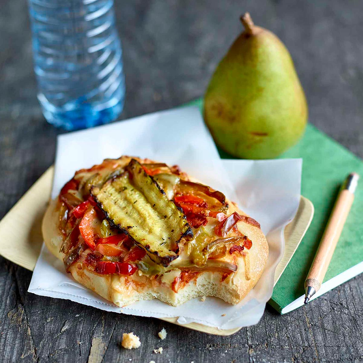Peppers and grilled courgette fozza
